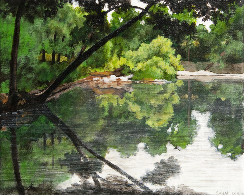 Menomonee River 1 / 8 x 10 inches / Acrylic on Canvas